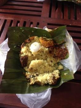 Curry in banana leaf