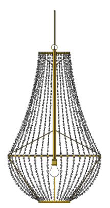 Quartz chandelier